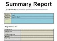 summary report reduced