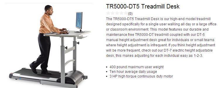 image lifespan tr5000 treadmill desk