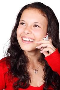 girl on cel phone